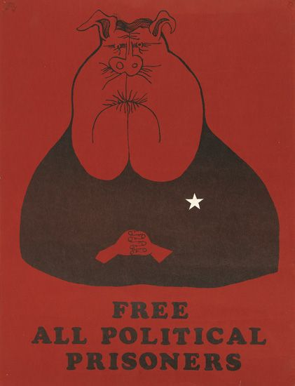 (BLACK PANTHERS.) CHICAGO SEVEN. Free All Political Prisoners.
