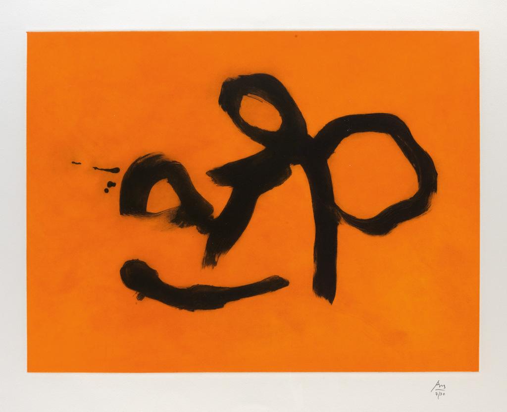 ROBERT MOTHERWELL Orange Lyric.