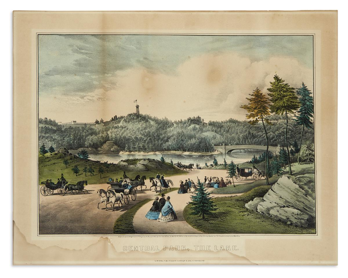 CURRIER--IVES-Central-Park-the-Lake