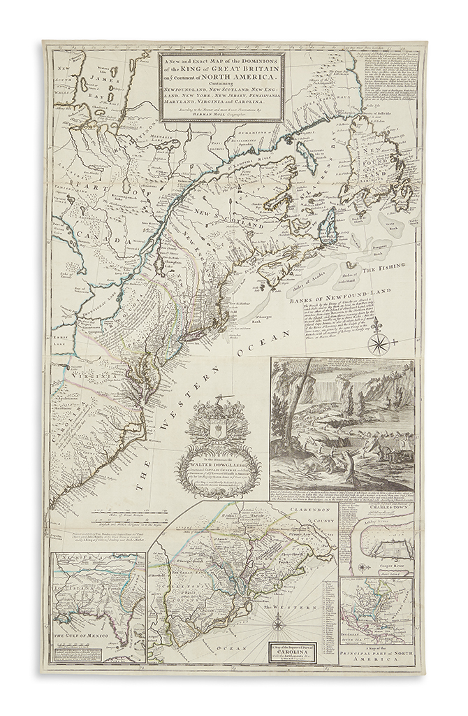 MOLL, HERMAN. A New and Exact Map of the Dominions of the King of Great Britain on ye Continent of North America.