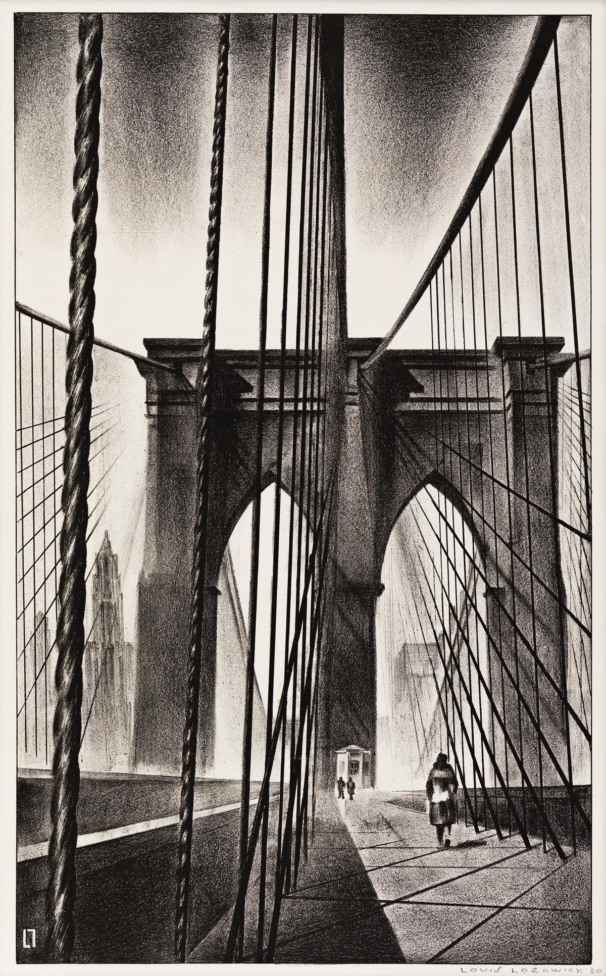LOUIS LOZOWICK Brooklyn Bridge.