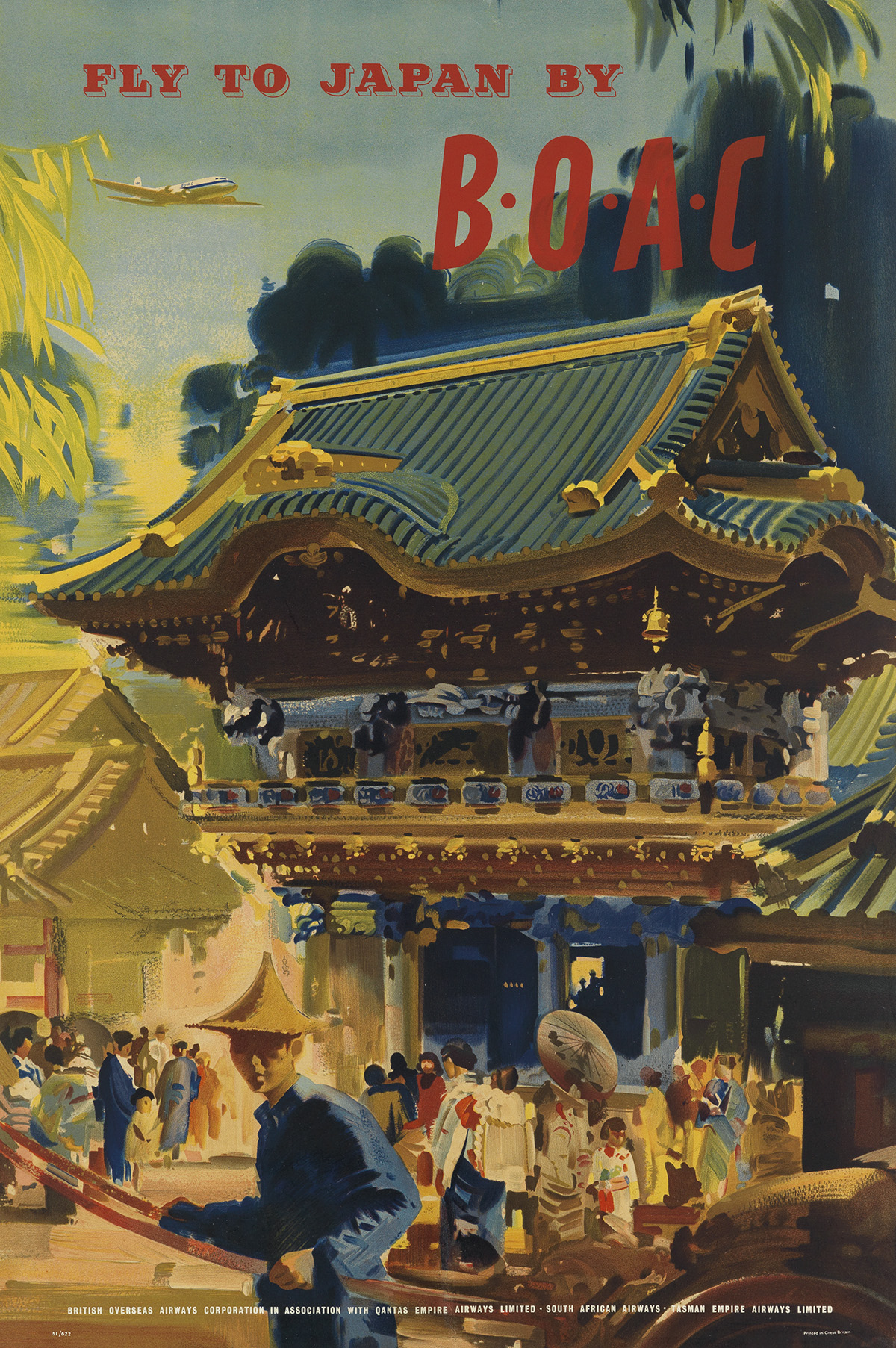FRANK-WOOTTON-(1914-1998)-FLY-TO-JAPAN-BY-BOAC-1951-30x20-in