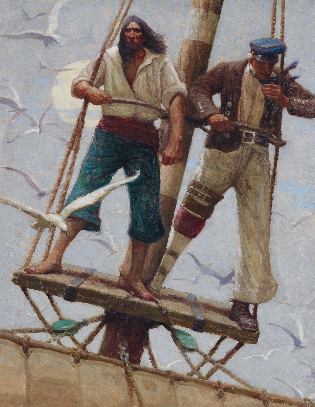 MEAD-SCHAEFFER-(MOBY-DICK--MELVILLE--AMERICAN-ART)-He-raised