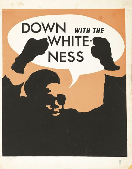 (BLACK RADICALISM.) DOWN with the WHITE NESS.