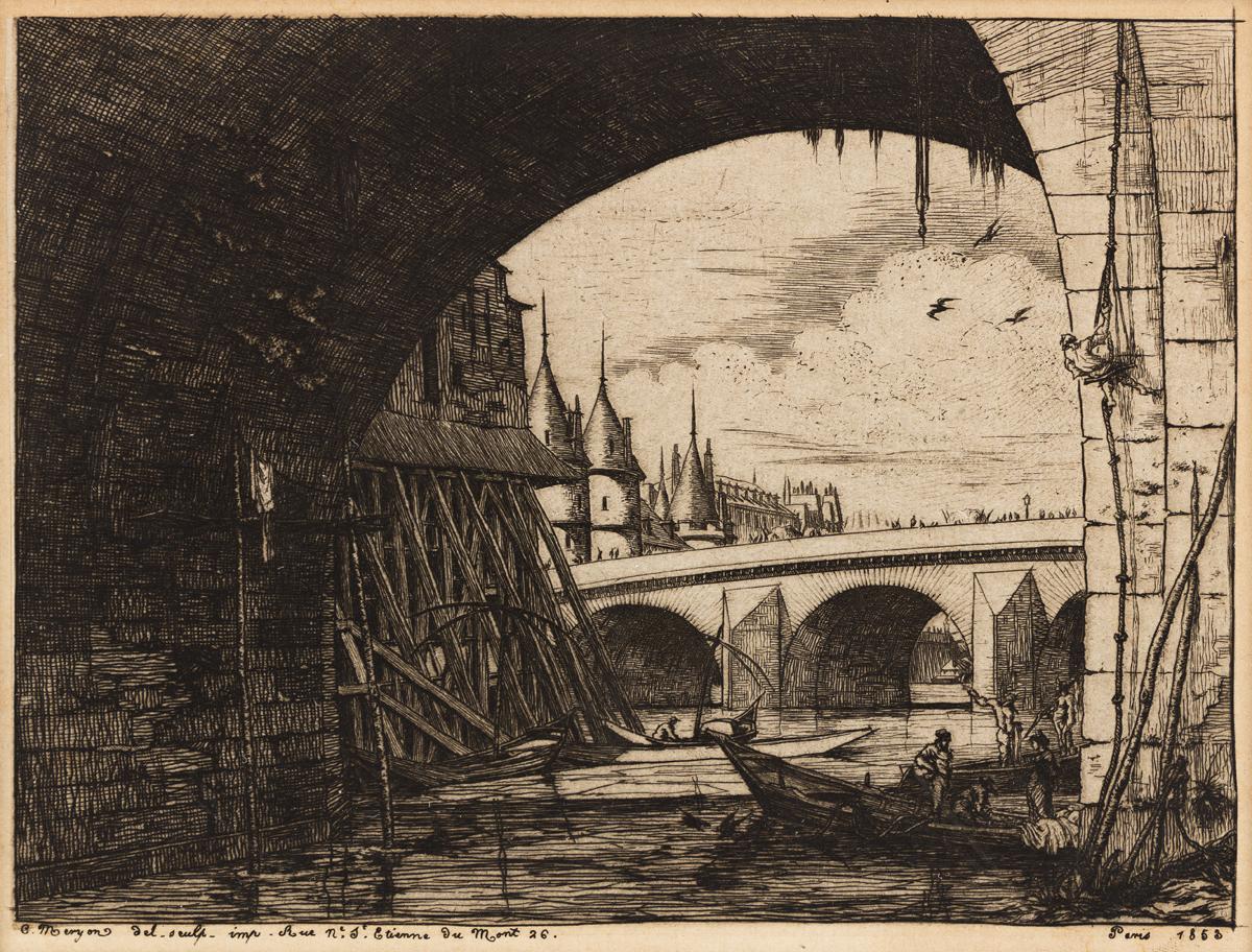 CHARLES MERYON LArche du Pont Notre-Dame.
