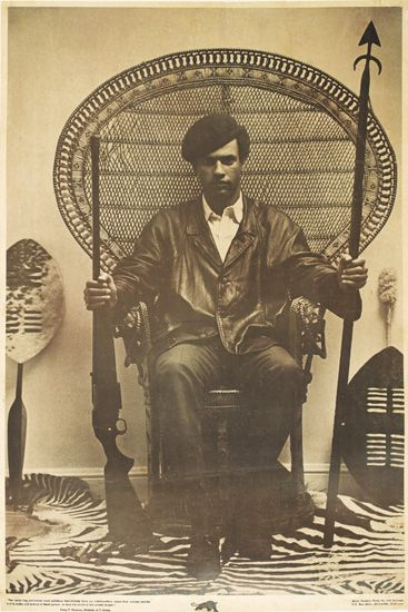 (BLACK PANTHERS.) NEWTON, HUEY. The racist dog policemen must withdraw immediately from our communities.