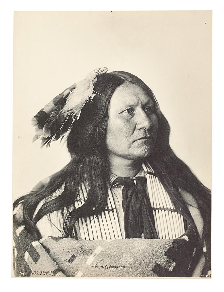 (AMERICAN-INDIANS--PHOTOGRAPHS)-Rinehart-Frank-A-Plenty-Woun