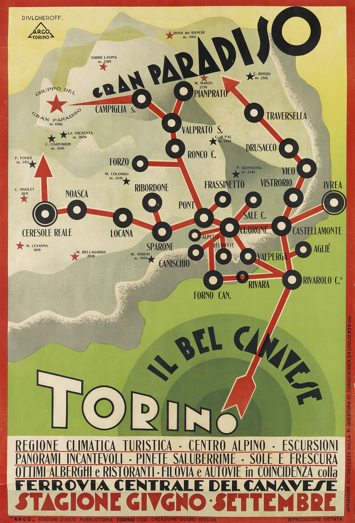 NIKOLAY-DIULGHEROFF-(1901-1982)-TORINO--IL-BEL-CANAVESE-1930