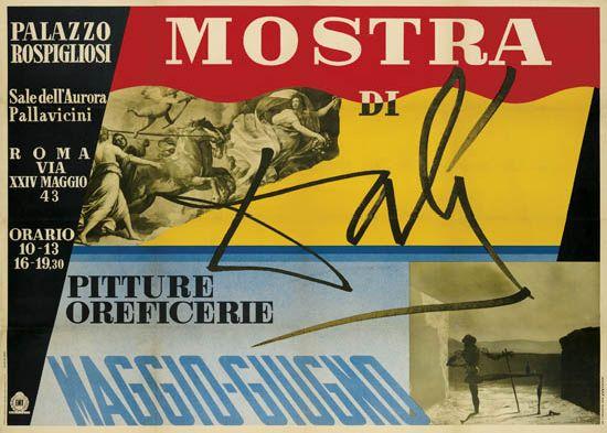DESIGNER-UNKNOWN-MOSTRA-DI-DALI--PITTURE-OREFICERIE-1954-39x