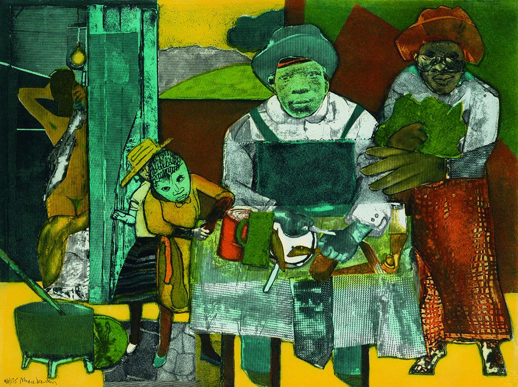 ROMARE BEARDEN (1911 - 1988) The Family.