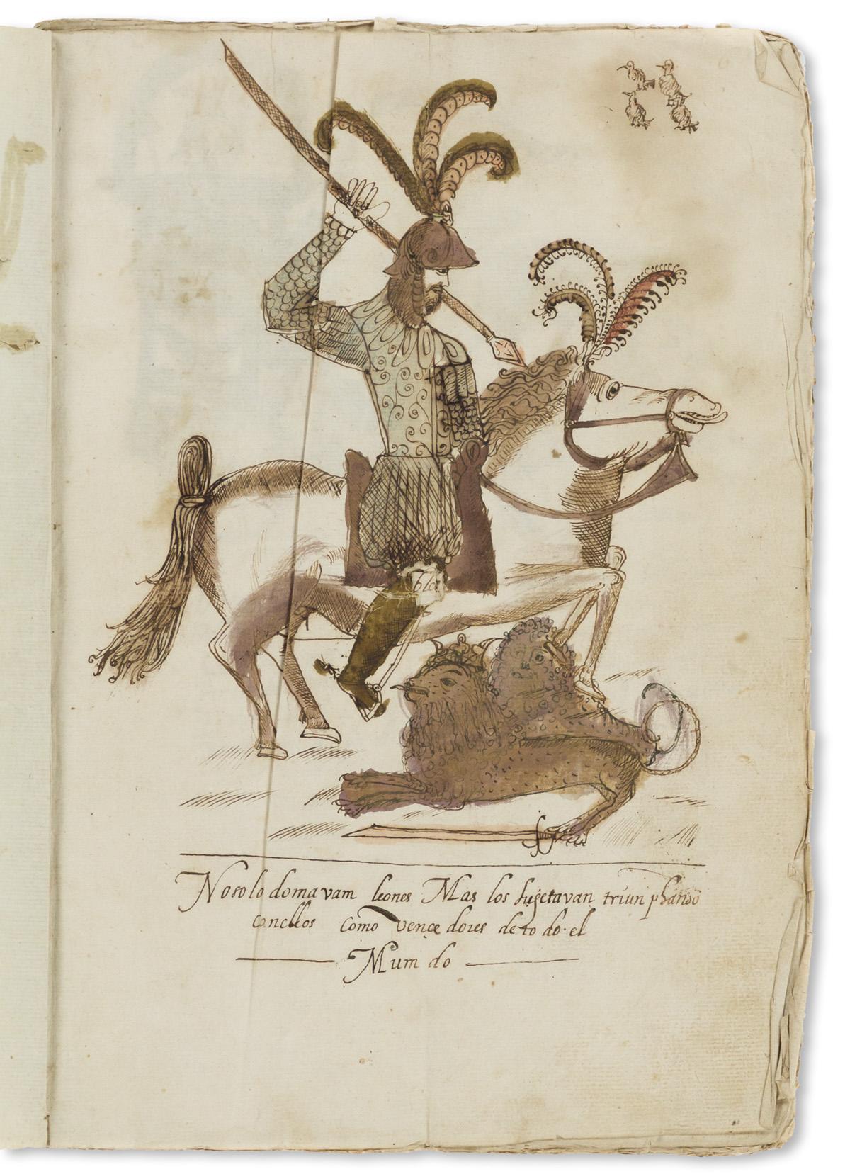 Caballeros Farfanes de los Godos, Manuscript on Paper, Spain.