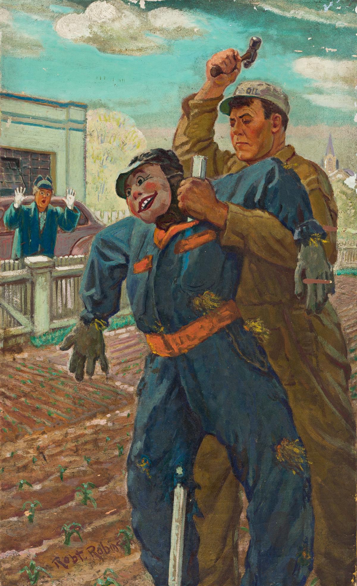 ROBERT BERNARD ROBINSON (1886-1952) Scarecrow. [COVER ART / MOTOR MAGAZINE / AUTOMOBILES]