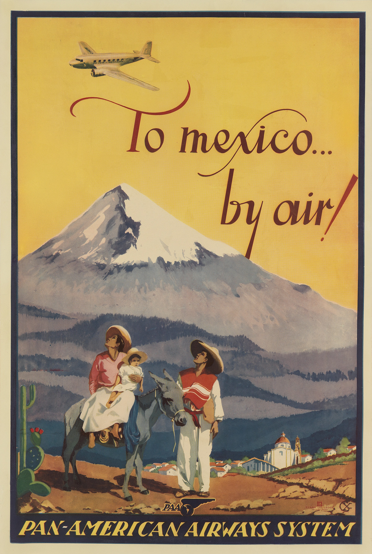 MONOGRAM-UNKNOWN-TO-MEXICO----BY-AIR--PAN---AMERICAN-AIRWAYS
