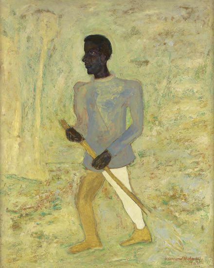 BEAUFORD DELANEY (1901 - 1979) Le Balayeur.