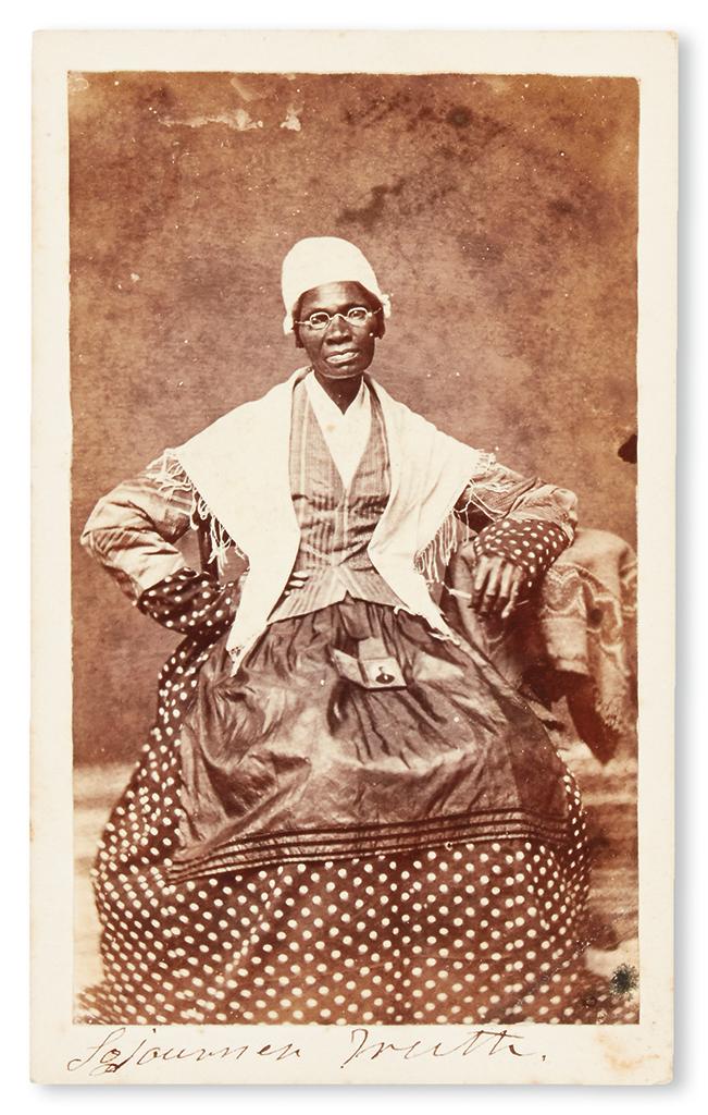 "(SLAVERY AND ABOLITION.) BAUMFRE, ISABELLA ""SOJOURNER TRUTH. Carte-de-visite photograph."