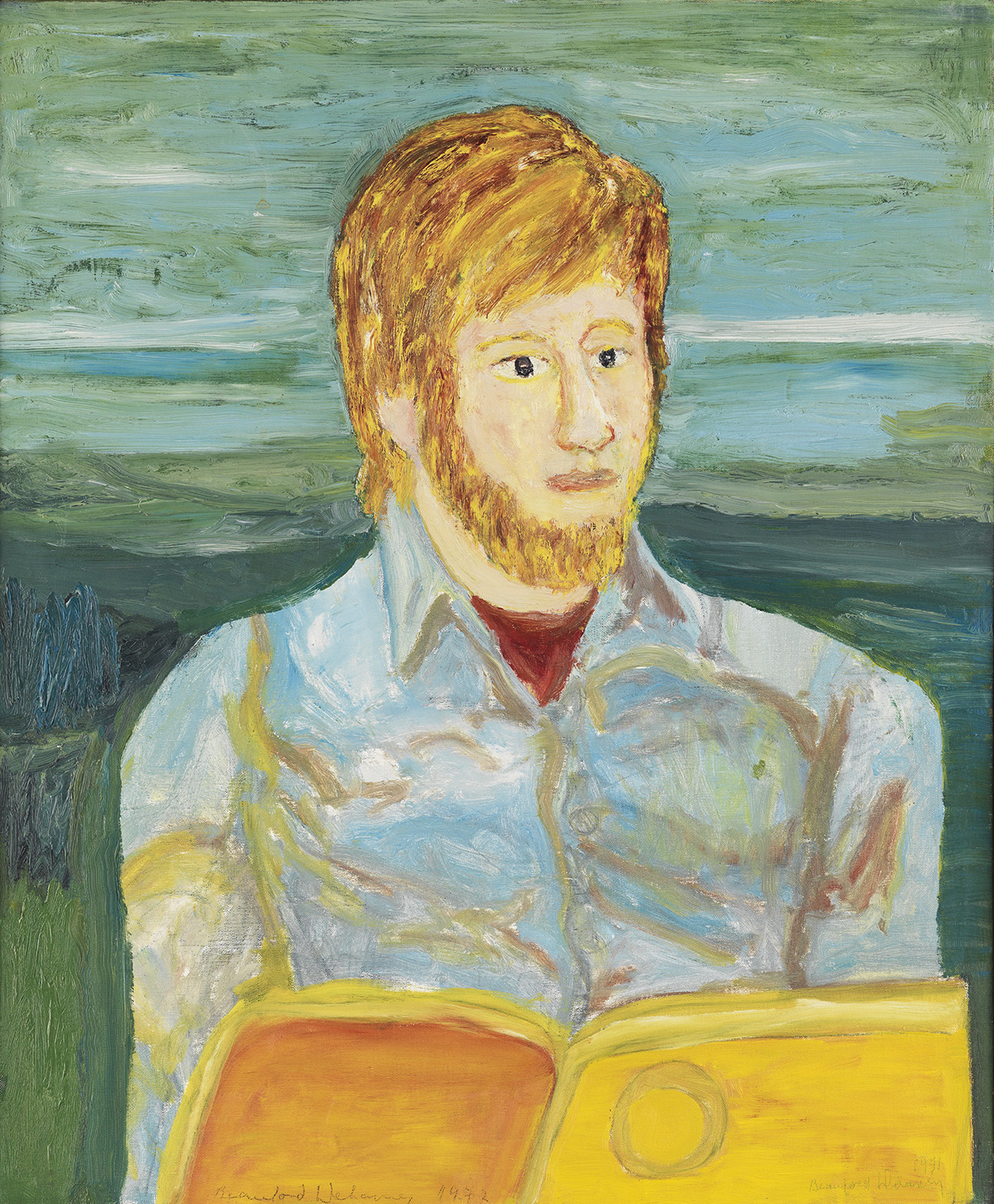 BEAUFORD-DELANEY-(1901---1979)-Portrait-of-a-Bearded-Young-M