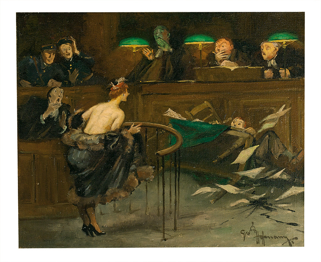 GASTON HOFFMANN. Mayhem in the courtroom.