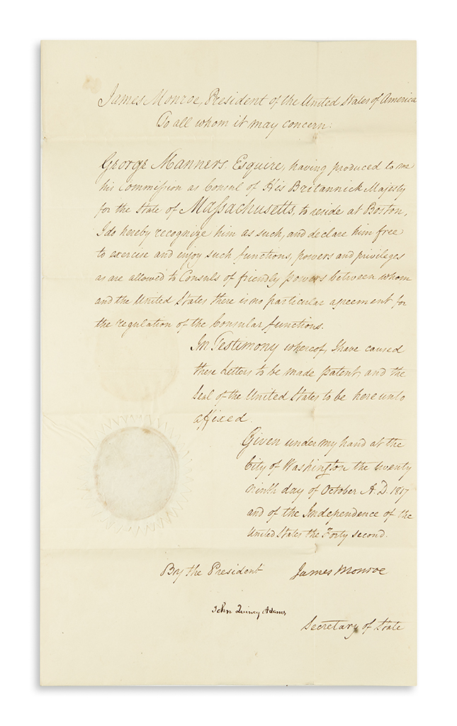 MONROE-JAMES-Document-Signed-as-President-recognizing-George