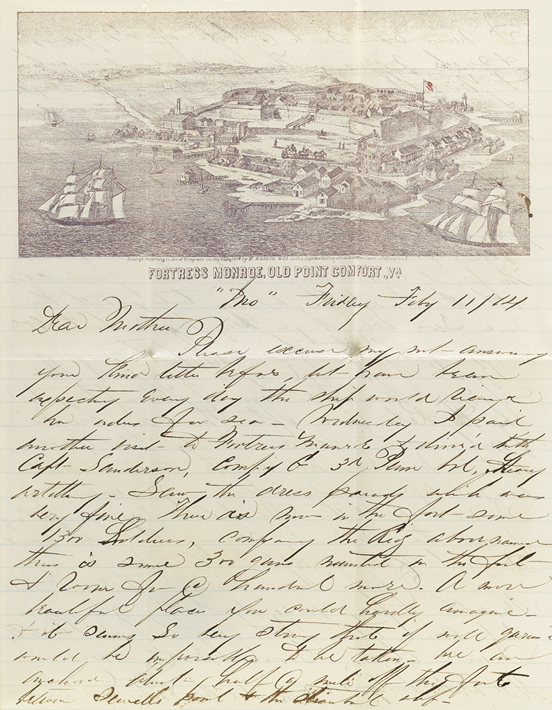 (CIVIL WAR--NAVY.) Andrews, Daniel Webster. Letters of a Union naval ensign, with related family papers.