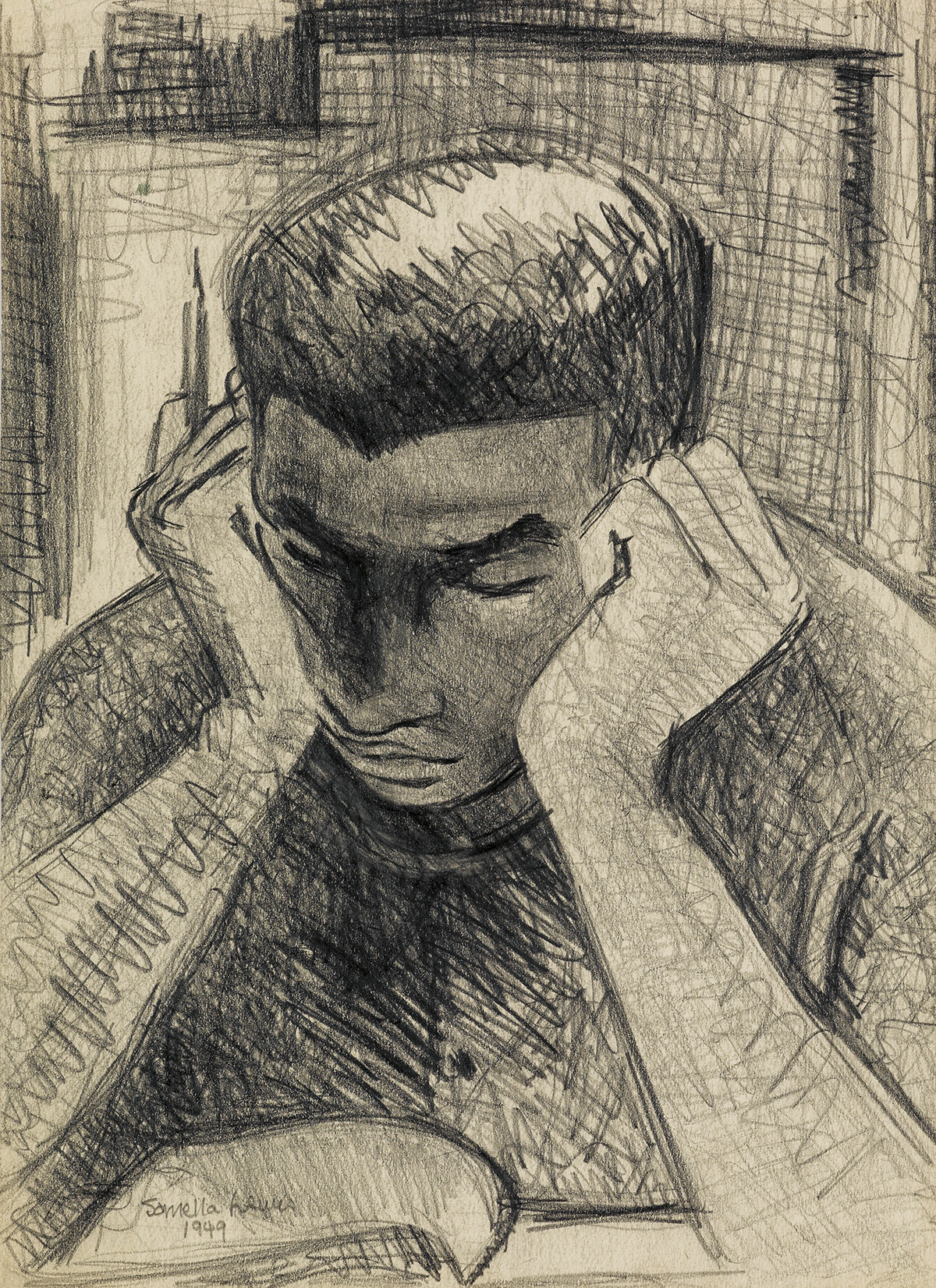 SAMELLA LEWIS (1924 -   ) Untitled (Boy Reading).