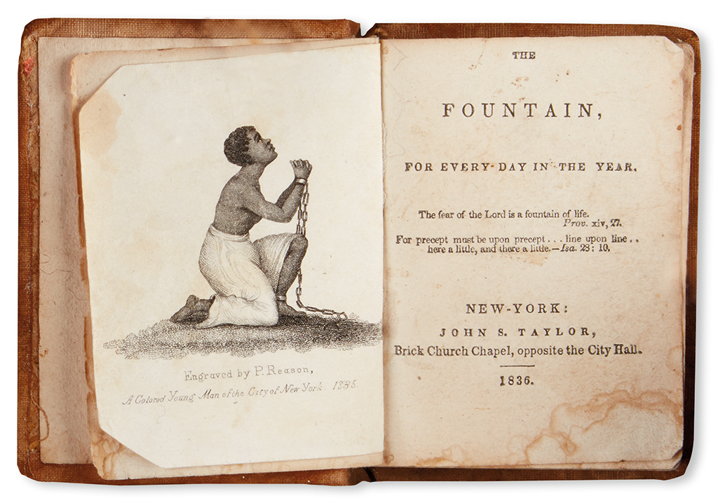 (SLAVERY AND ABOLITION--REASON, PATRICK.] CHILD, LYDIA MARIA. The Fountain for Every Day in the Year