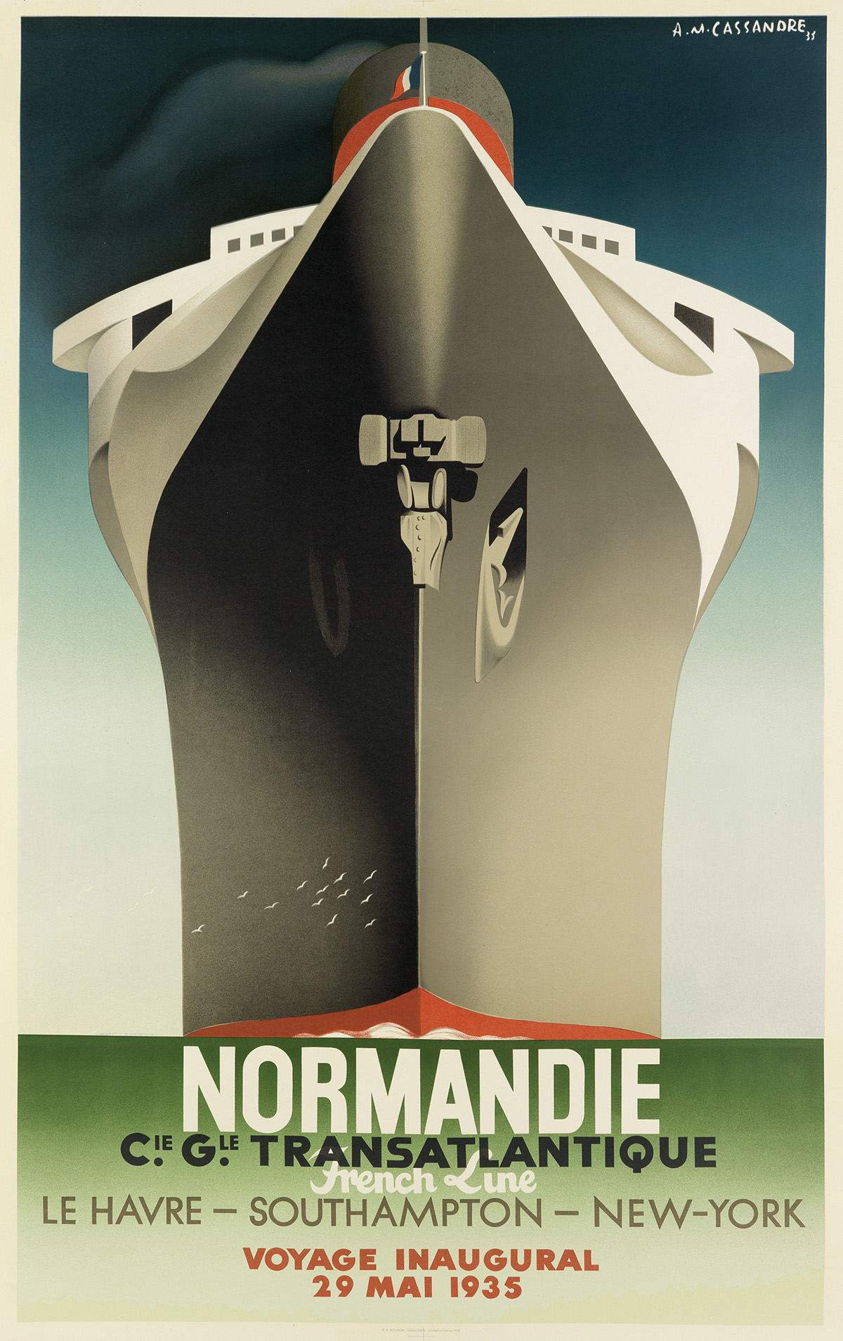 ADOLPHE-MOURON-CASSANDRE-(1901-1968)-NORMANDIE-1998-63x39-in