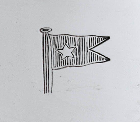 (WHITE STAR LINE.) Silver wine cooler by Goldsmiths,