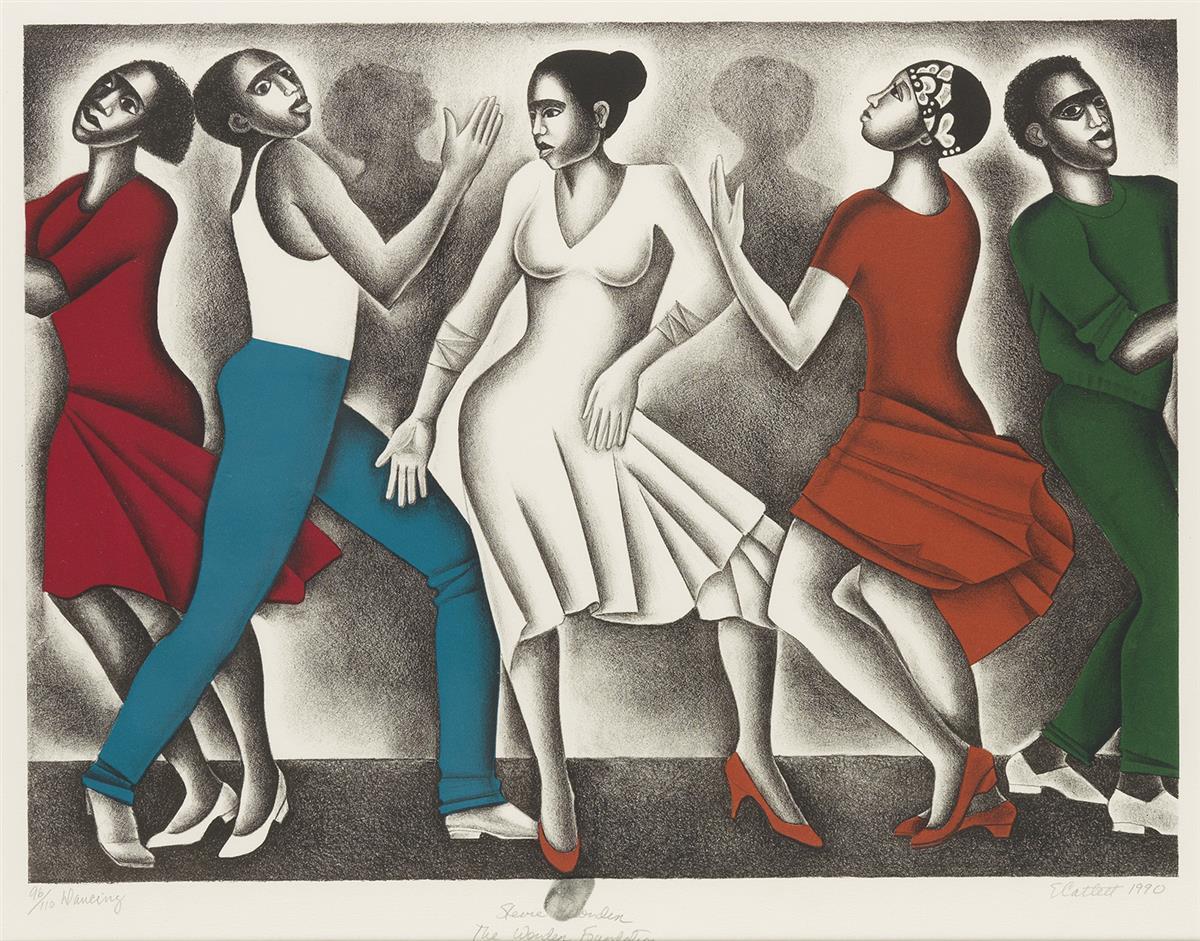 ELIZABETH CATLETT (1915 - 2012) Dancing.