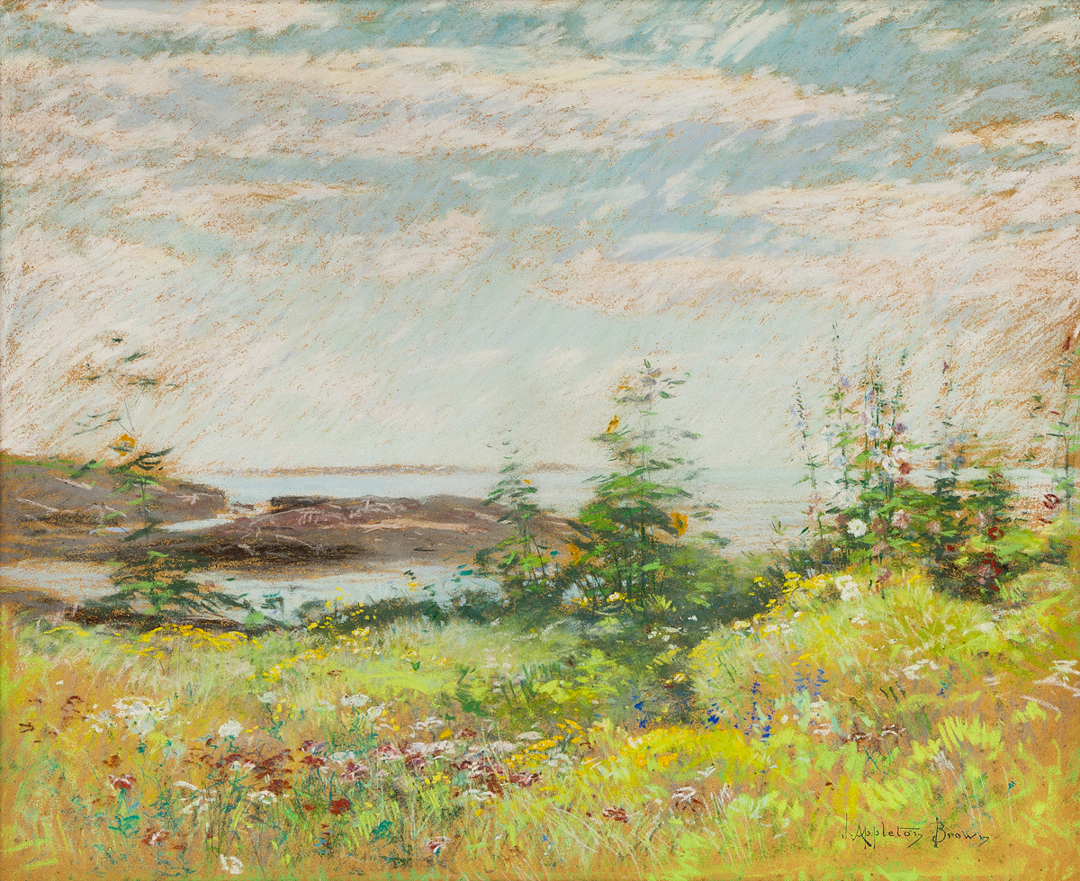 JOHN-APPLETON-BROWN-Celia-Thaxters-Garden-and-View-of-the-Sea-Appledore-Isle-of-Shoals