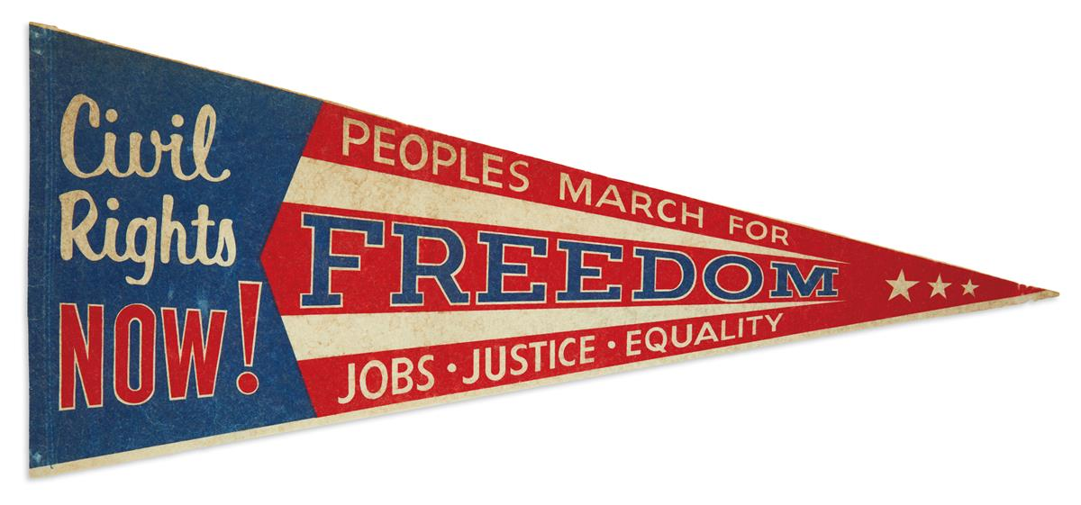 (CIVIL RIGHTS.) Civil Rights Now! Peoples March for Freedom, Jobs, Justice, Equality.