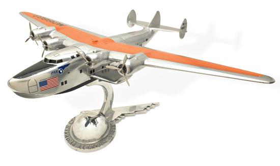 (AVIATION.) Pan-American Airways. Large metal model of a B-314 Flying Boat,