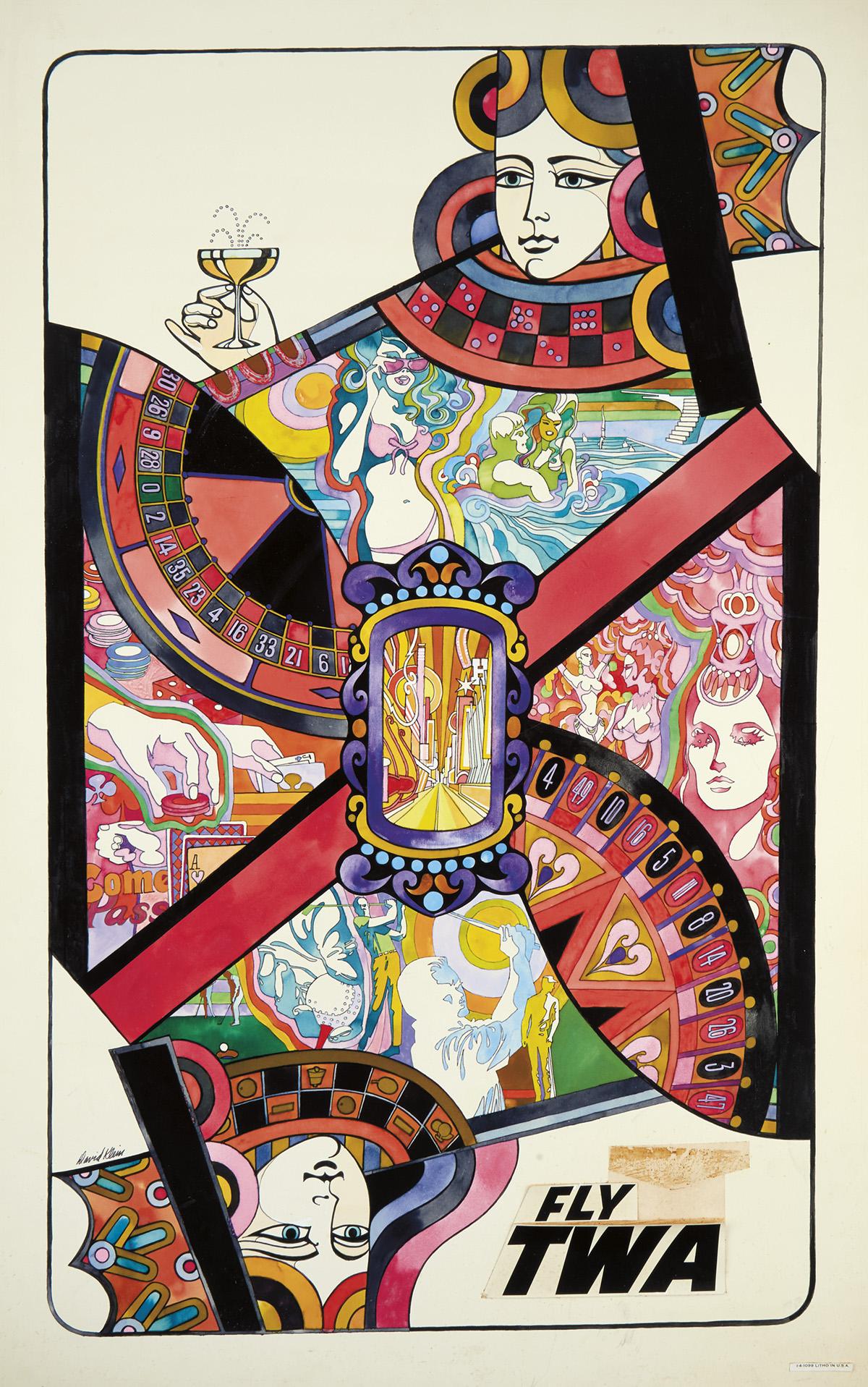 (ADVERTISING.) DAVID KLEIN. Las Vegas -- Fly TWA.