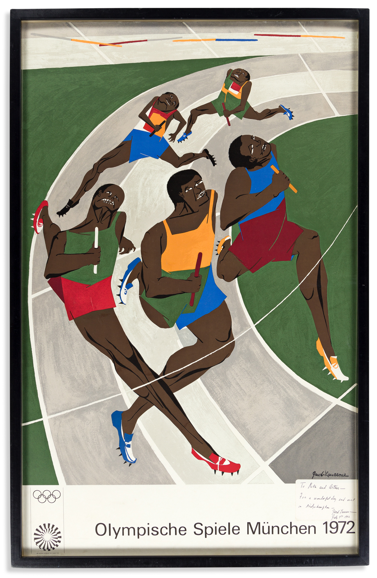 (ART.) Jacob Lawrence. Olympische Spiele München 1972.
