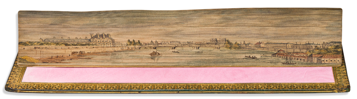 (FORE-EDGE PAINTING.) Crabbe, George. The Poetical Works of George Crabbe Complete in One Volume.