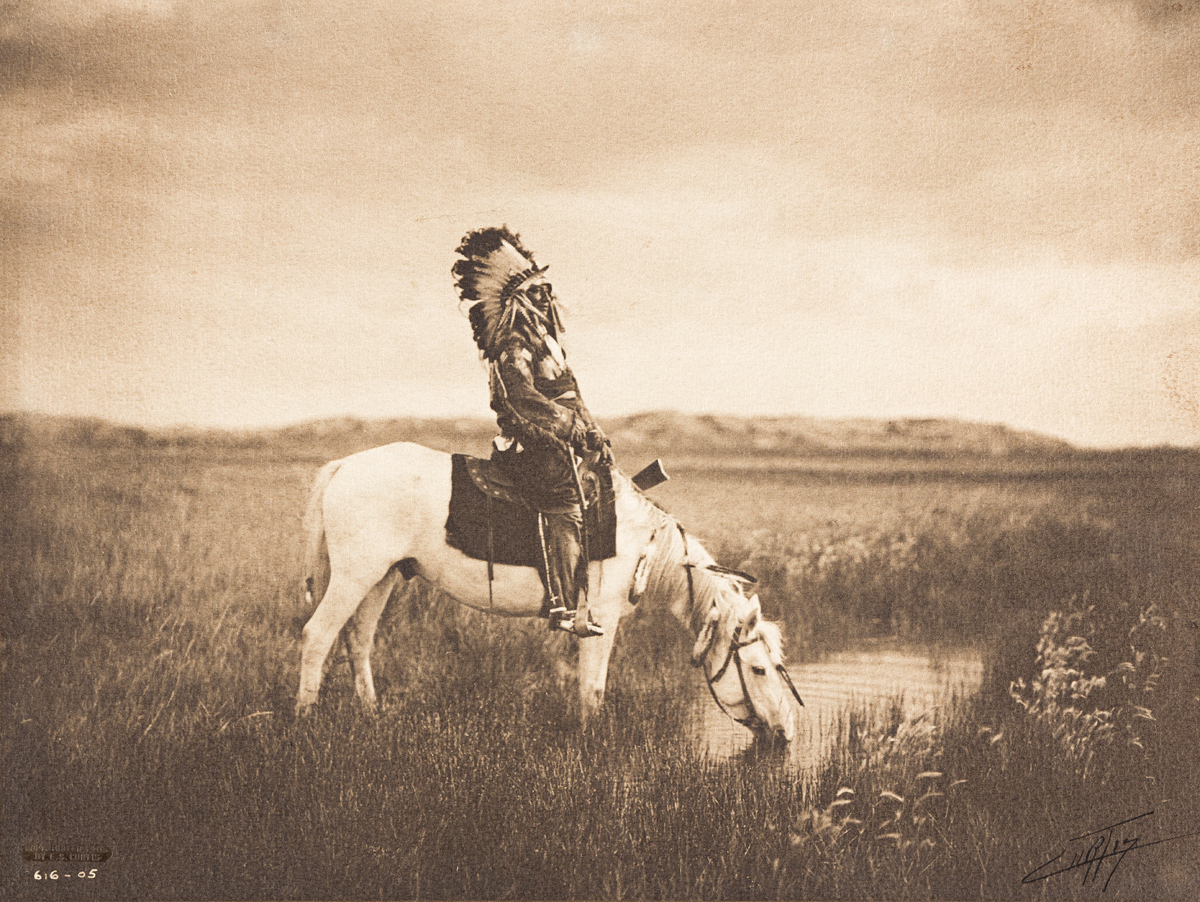 EDWARD S. CURTIS (1868-1952) Oasis in the Badlands.