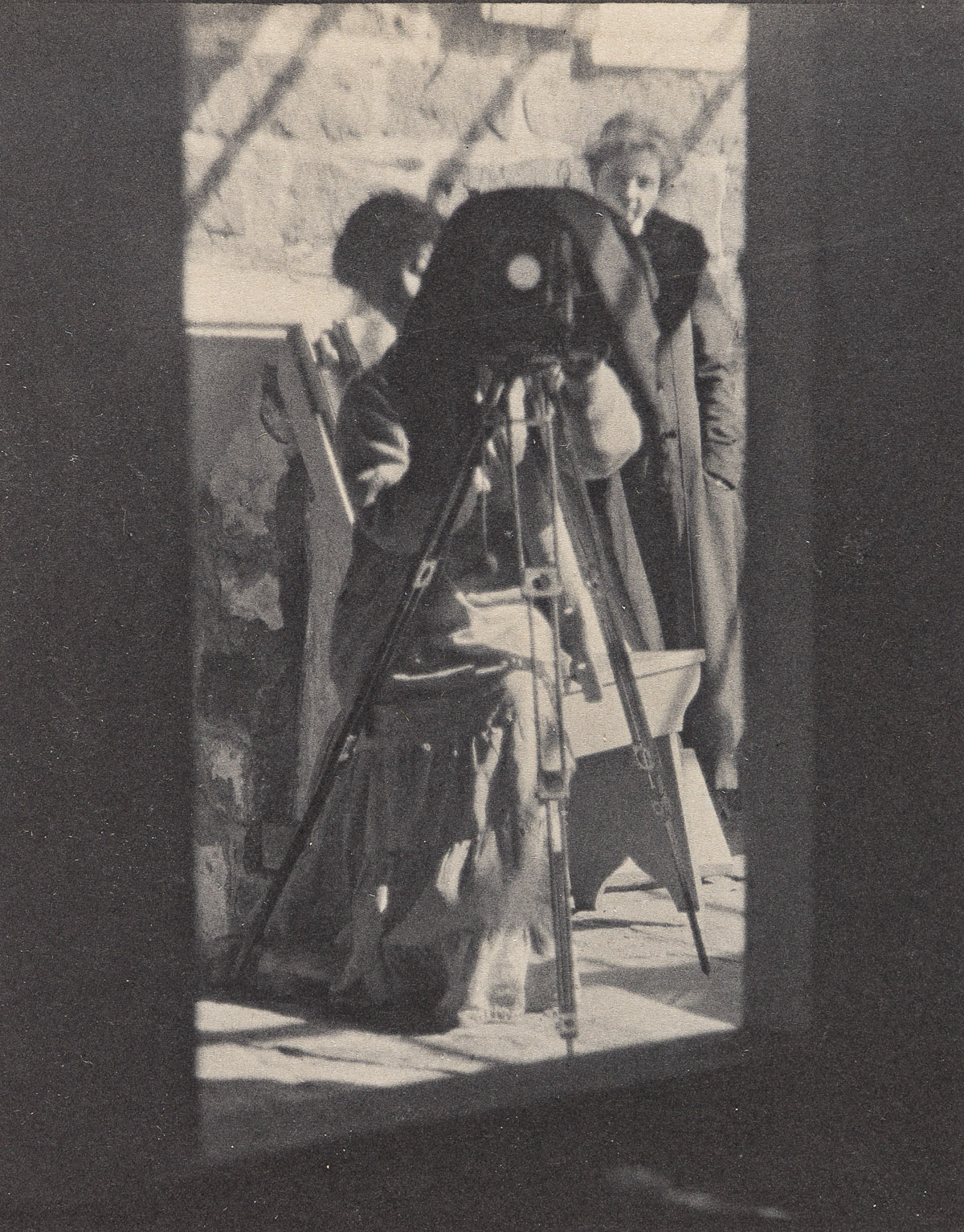 KARL STRUSS (1886-1981) Woman photographer in a class with Clarence White.