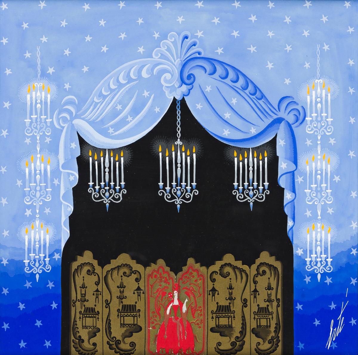 ERTÉ [ROMAIN DE TIRTOFF] (1892-1990) Décor de Laideronnette. [THEATER / CHINESE / BALLET / SET DESIGN / MOTHER GOOSE]