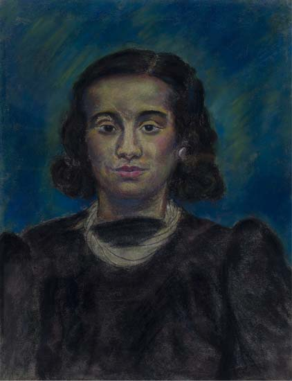 BEAUFORD DELANEY (1901 - 1978) Untitled (Portrait of a Young Black Woman).