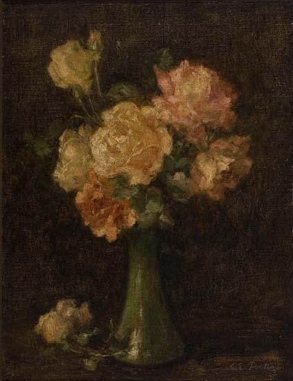 CHARLES-ETHAN-PORTER-(1847---1923)-Vase-of-Roses