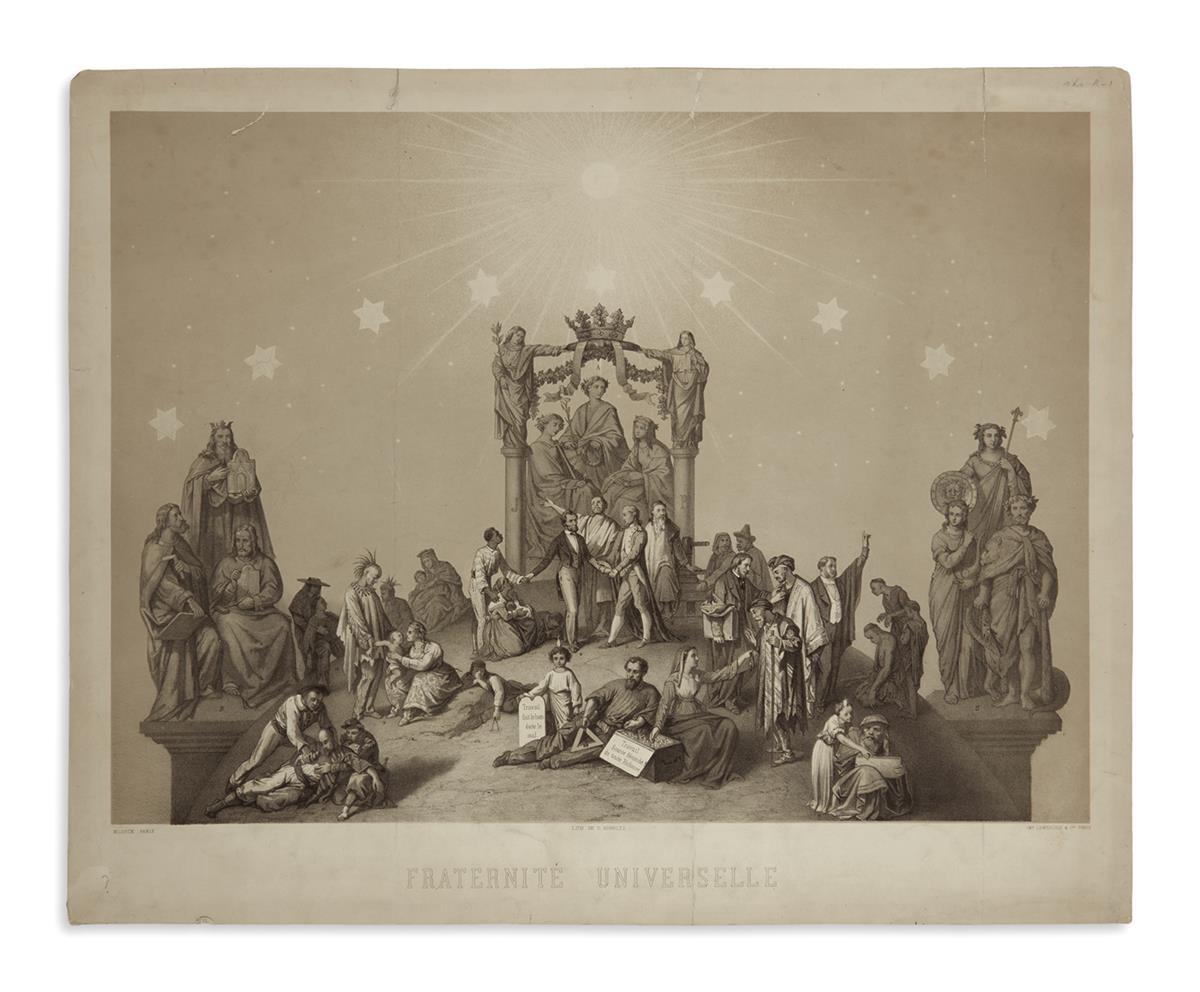 (PRINTS--MEMORIAL)-Schultz-C-lithographer-Fraternité-Univers