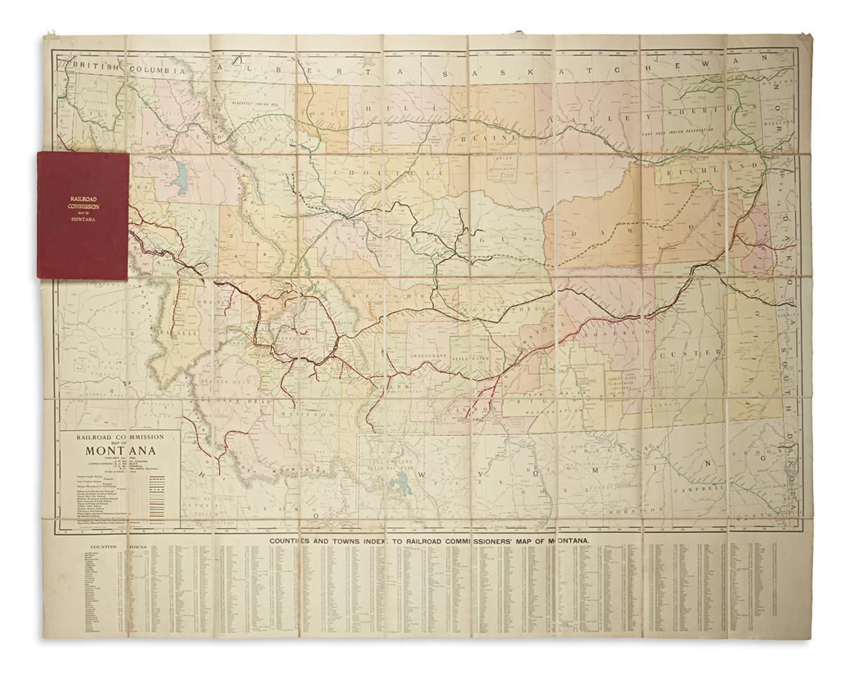 (MONTANA)-Rand-McNally--Co-Railroad-Commission-Map-of-Montan