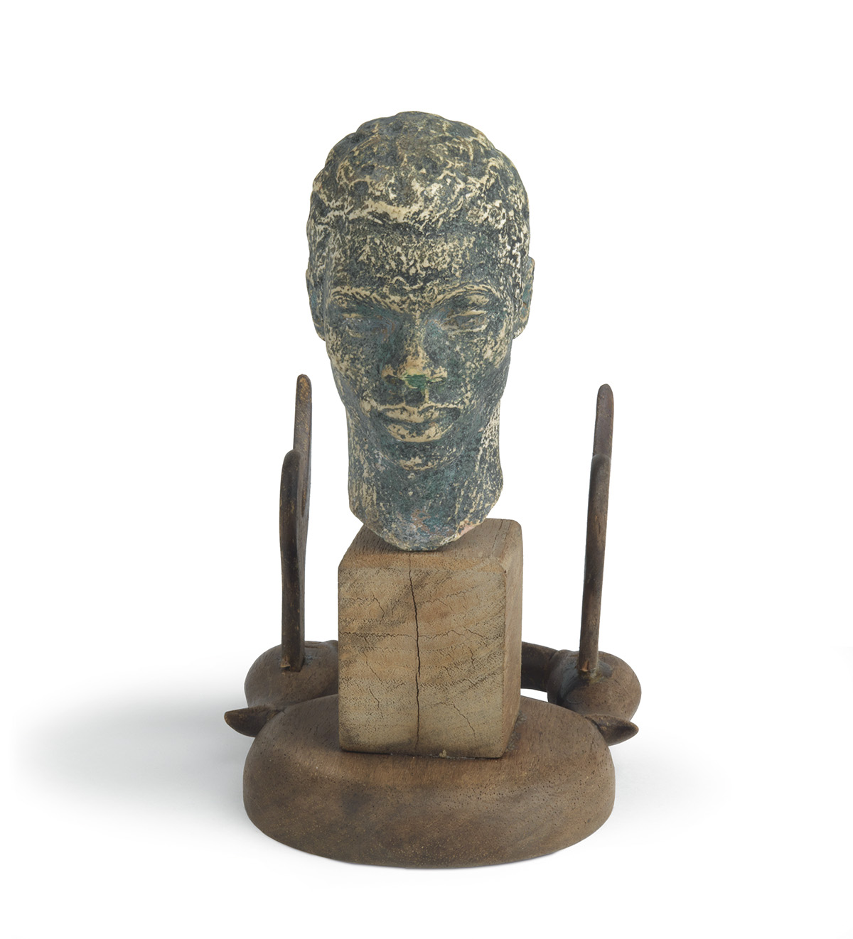 RICHMOND-BARTHÉ-(1901---1989)-Untitled-(Bust-of-a-Young-Man)