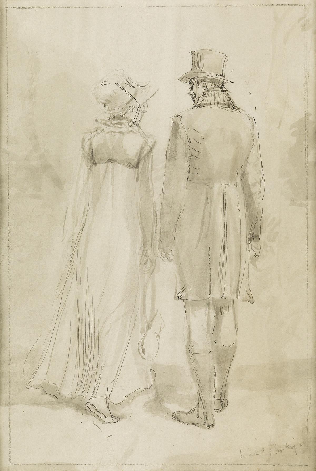 ISABEL BISHOP. (JANE AUSTEN / PRIDE AND PREJUDICE) Mr. Darcy and Elizabeth.