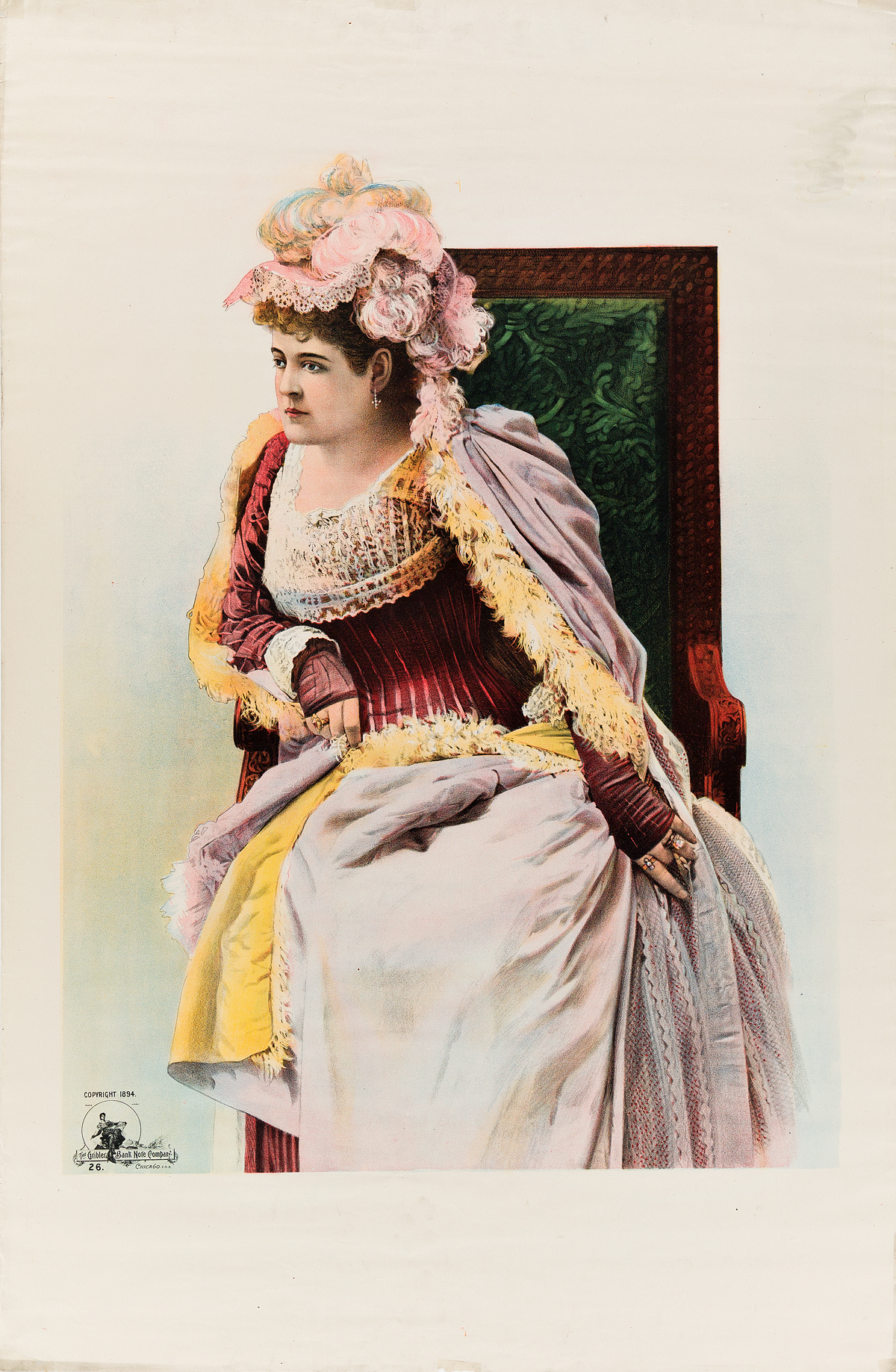 DESIGNERS-UNKNOWN-[PERFORMING-ARTS]-Two-posters-1894-38x25-inches-96x63-cm-Gribler-Bank-Note-Company-Chicago