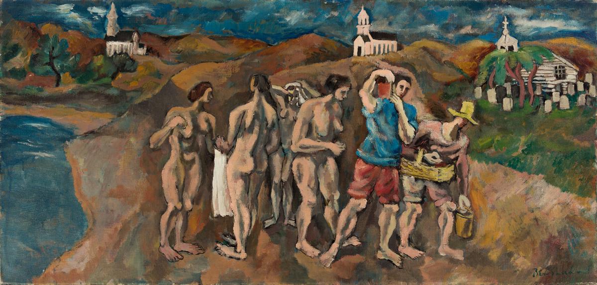 BEN SHAHN (1898 - 1969, AMERICAN) Bathers at Truro.