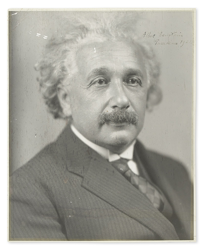 EINSTEIN, ALBERT. Photograph dated and Signed,