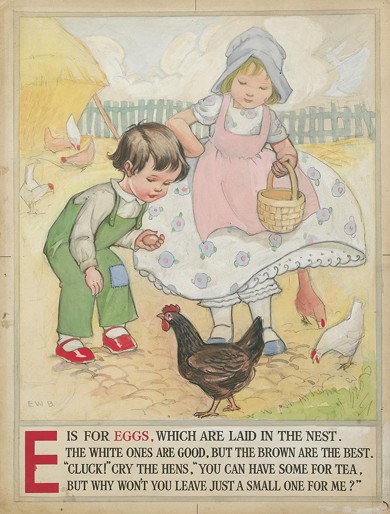 """ALPHABET-BOOK-""""E-is-for-Eggs"""""""
