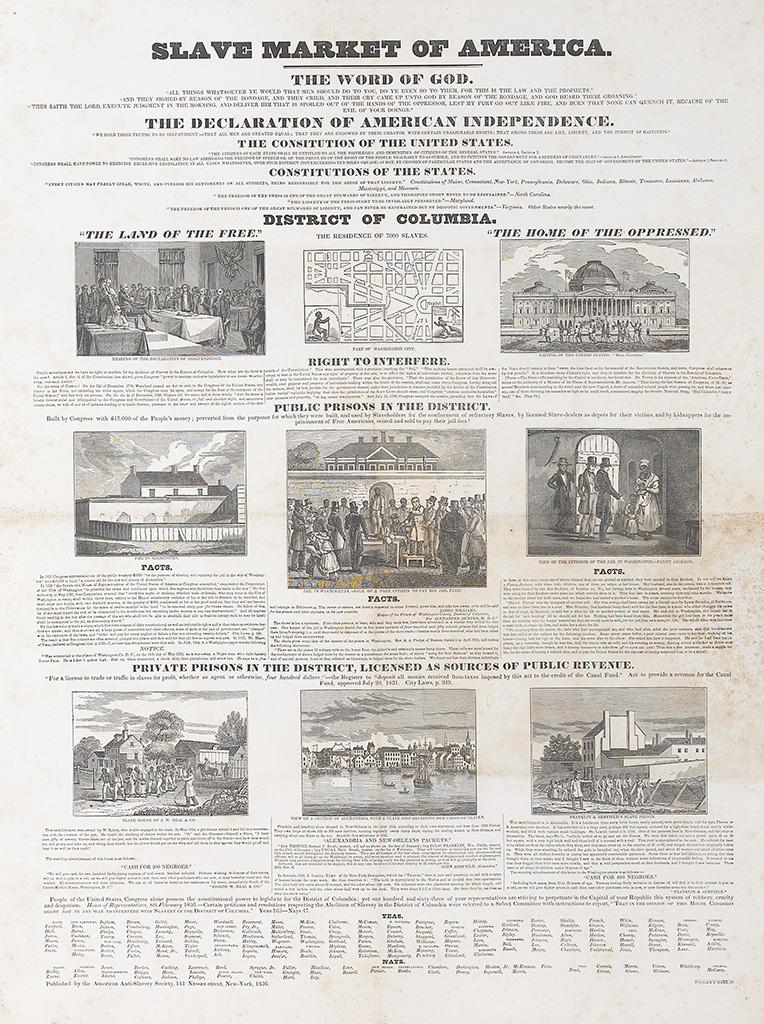 (SLAVERY AND ABOLITION.) AMERICAN ANTI-SLAVERY SOCIETY. Emancipator EXTRA. Slave Market of America.