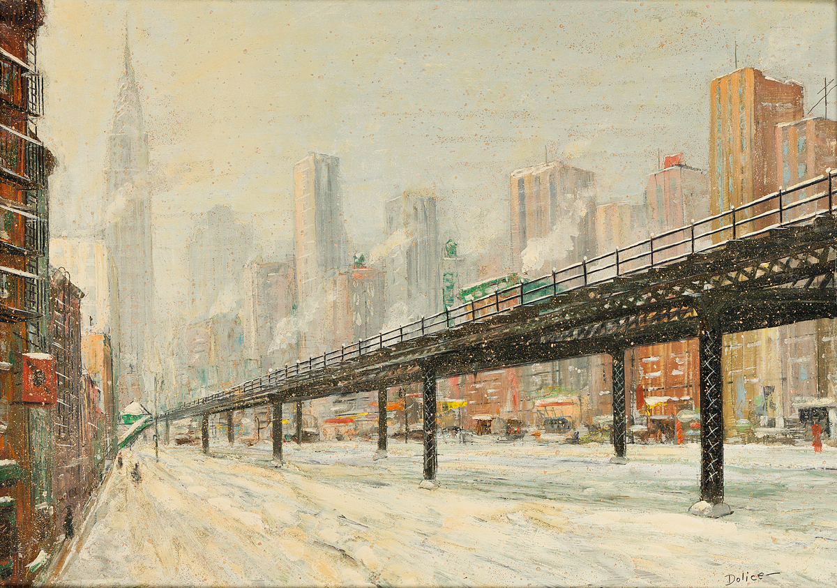 LEON DOLICE New York, Third Avenue El.