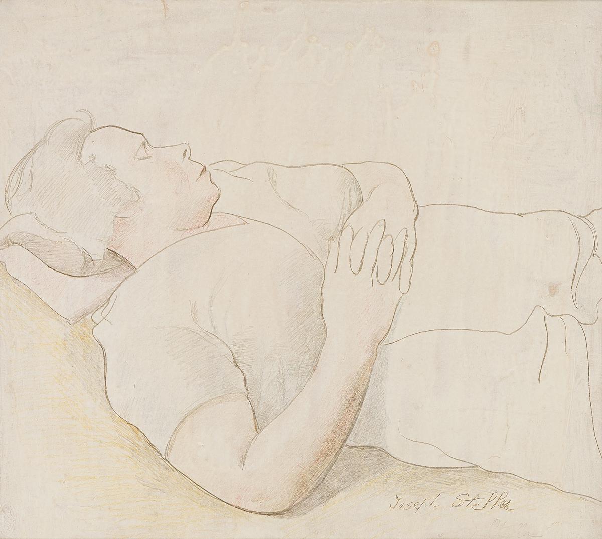 JOSEPH STELLA Study of a Sleeping Woman.
